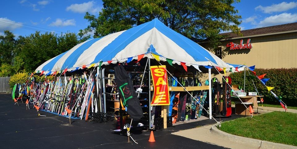 Waterford, Michigan Ski and Snowboard Clearance Tent Sale October 2018